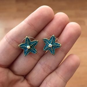 Betsey Johnson starfish earrings